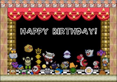 Joyeux Fete A Mario Tous Sur Mario Et Ses Amis