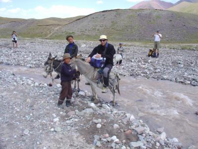 Expédition au Pic Lénine - Kirghizstan (08/2006) Passage rivière !
