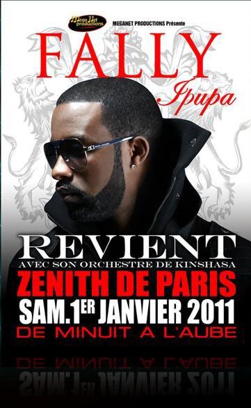 Affiche Fally Ipupa au Zénith de Paris le 1er janvier