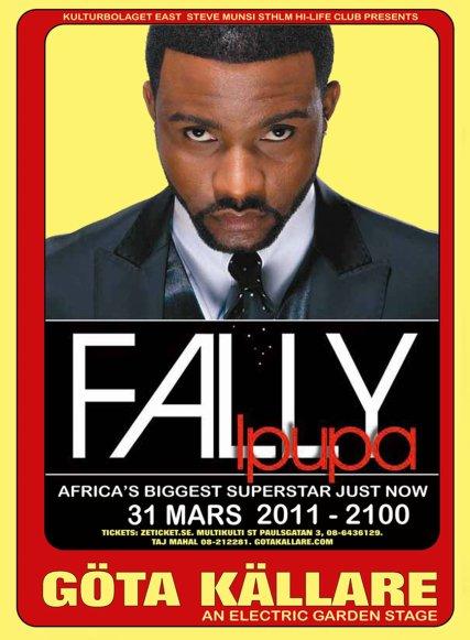 OBS!! DATE CHANGÉ!! Steve Munsi présente Fally Ipupa en concert live le 31  MARS en Suède à Stockholm
