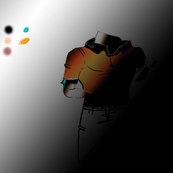 Voici un petit dessin sur tablette pas du tout terminer