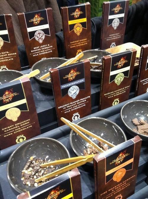 C'est un entrprise de chocolat nommé wild ophelia inspiré par Catching Fire!!