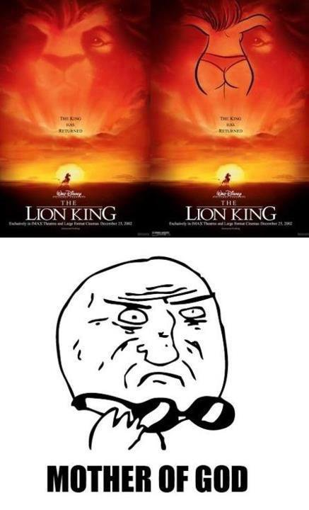 Image caché dans le roi lion