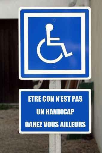 Les places handicapés ...