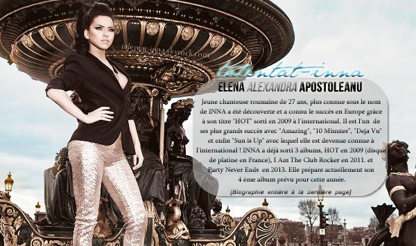 >>.Talentat-INNA  Blog source sur la sublime chanteuse roumaine, INNA, ici vous pourrez suivre toute son actu !