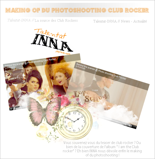 # Making of photoshooting club rocker + photos d'inna + surprise !