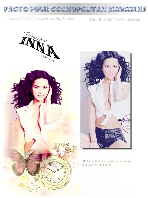 # Photo pour Cosmopolitan magazine de Roumanie + Remix de Ai se eu te pego reprise par inna remixée par Play&Win