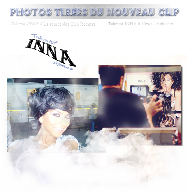 # 2 photos du tournage du prochain clip d'INNA ! + un remix de Put your hands up