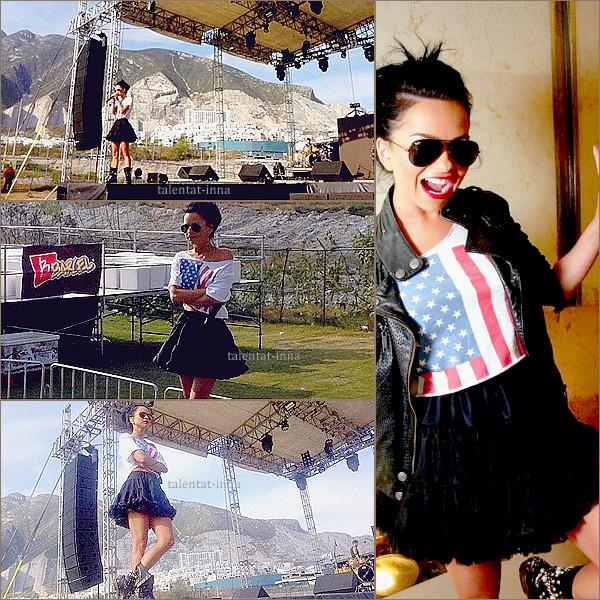 """→  INNA au Mexique à Monterrey [excusez moi pour la mauvaise qualité des photos..]  INNA a débuté son """"I am the club rocker tour' au Mexique dans la ville de Monterrey ! On peut dire qu'elle a enflammé la foule avec sa première représentation de """"Caliente"""" ! Elle a aussi performé avec """"Sun is up"""", """"un momento"""", """"Endless"""",""""wow"""", """"Amazing"""", """"Déjà vu"""", """"Love"""" mais aussi avec le titre """"La bamba"""" ."""