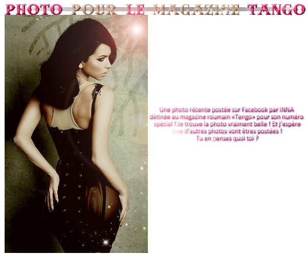 → 05.05.2012 :: Un petit message d'INNA via Barcelone puis une photo tiré de son nouveau photoshoot ! + Surprise de moi et une surprise d'INNA