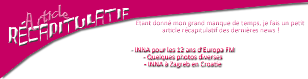 → ARTICLE RÉCAPITULATIF DES DERNIÈRES NEWS !!