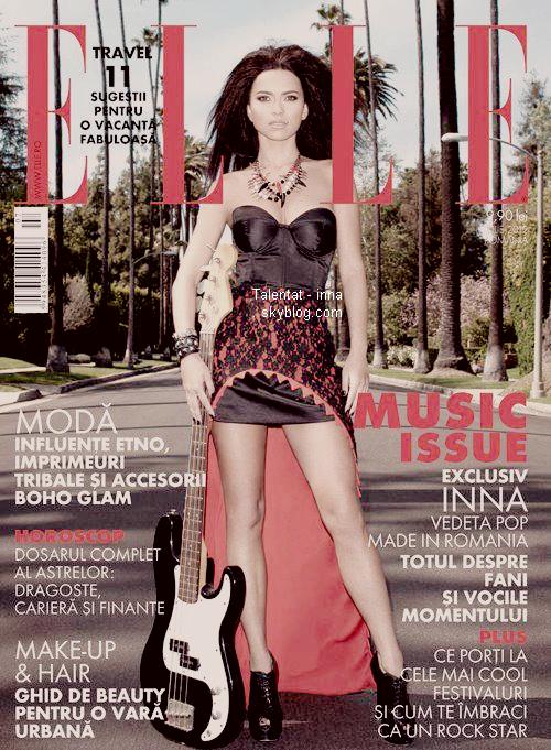 "→ INNA dans le magazine ""ELLE"" Roumanie !"