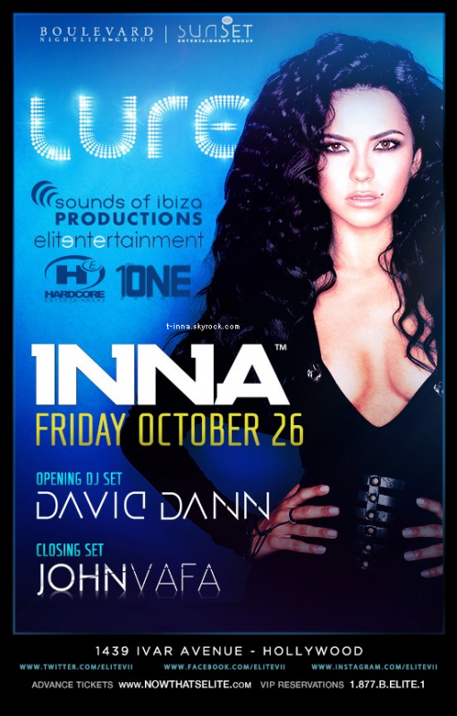 ☼ Affiche du concert de INNA qui a lieu vendredi (26) à Los Angeles. + Nouveau titre lors du Rock the Roof ! + Un petit remember♥