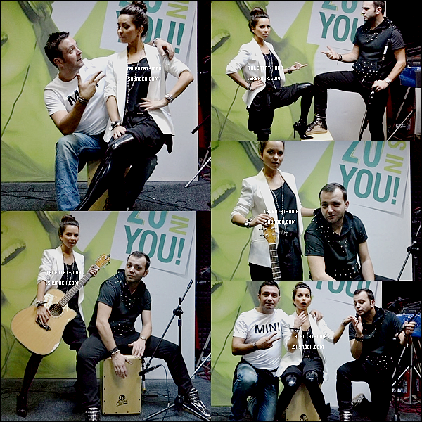 16 . 03 . 2013 INNA en Live à la Radio ZU en Roumanie le 14 Mars 2013