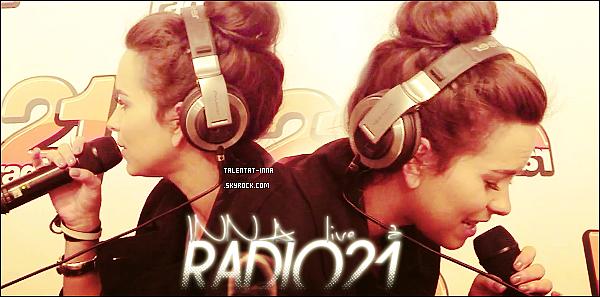 "16 . 03 . 2013 INNA en Live à ""Radio21"" le 15 Mars 2013"