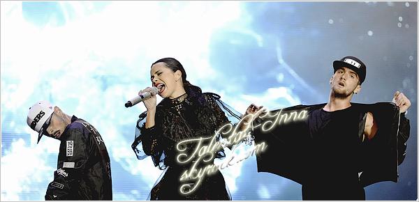 """▬ Concert ---------------------- • Le 7 septembre '2014, INNA était présente au GNC Festival 2014 à Istanbul  en """"Turquie."""" Elle """"était """"accompagnée """"de 'Pharrell Williams et Rita Ora qui  eux 'aussi étaient présents avec d'autres artistes. C'est avec un grand sourire que"""" INNA s'y """"est rendue 'vêtue d'une tenue créée par Jean Paul Gaultier. • ---------------------- (♥) l'article pour être prévenu du prochain !"""