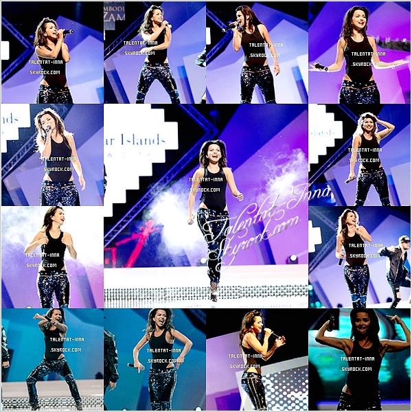 """▬ Live TV ---------------------- • Le """"14 Septembre, INNA s'est rendue à """"Miss Globe International 2014"""" à Baku (Azebarïdjan)"""" pour """"la finale. Elle y a interprété ses titres' """"Sun Is Up"""" et """"Cola Song"""" tout """"en"""" gardant son énergie à danser. Elle portait un pantalon à sequin avec """"un 'body et """"ses"""" talons """"du"""" moment"""" avec une coiffure simple. Plusieurs photos 'assez 'sympa"""" """"sont"""" disponibles ! INNA a aussi répondu une interview.• (aucune vidéo de sa prestation ou de l'interview n'est disponible) ---------------------- (♥) l'article pour être prévenu du prochain !"""