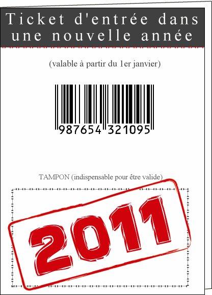 les bonnes résolutions de 2011