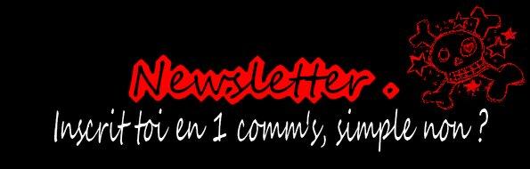 Publicité et newsletter.