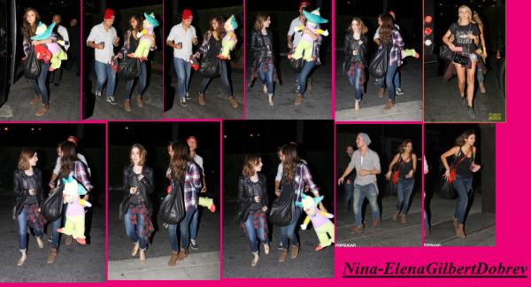 Nina,(& Krusty le clown) Julianne Hough et Lily Collins au Hollywood Horror Nights le 05.10.13 !