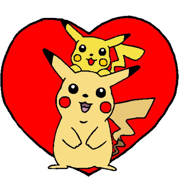 Double Pikachu Dans Un Coeur Blog De Pikachu Pikachu Pikachu