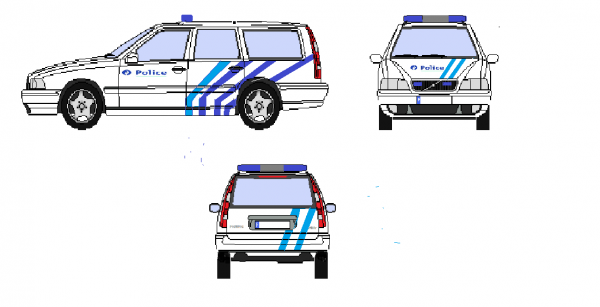 Police Locale Haute - Senne  Volvo V70