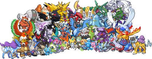 Les pok mon l gendaires existants et les vrais semi - Pokemon legendaire platine ...