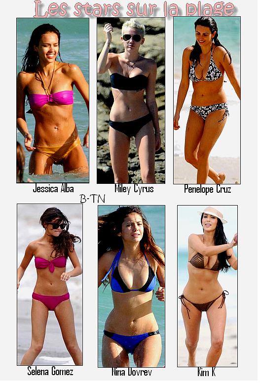 Les stars en bikini