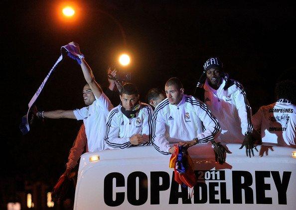 Real Madrid Fans célébrer la victoire contre Barcelone