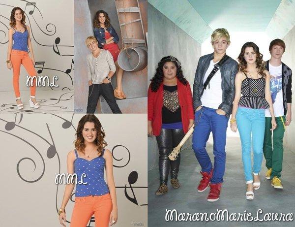 Photoshoot promotionnel pour la saison 2 de « Austin et Ally ».