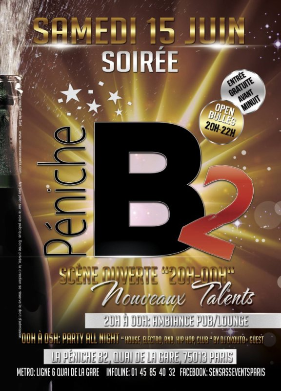 SOIREE B2 SAMEDI 15 JUIN