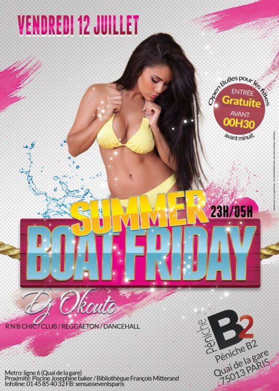 SOIREE SUMMER BOAT FRIDAY