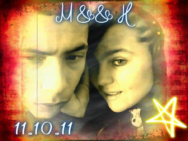 MOii && MON HOMME ... 11.10.11 DATE INOUBLiiABLE ... 1 ANS ET 5 MOiiS AVEC TOii QUE DU BONHEURE O PRES DE TOii JE TAiiME <3 <