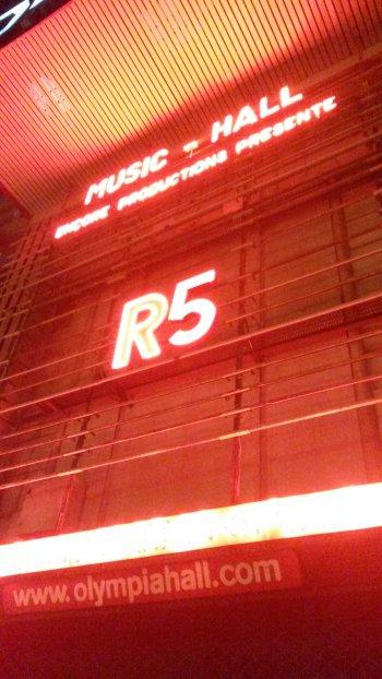 Concert des R5 Olympia. Paris 26/09/15.