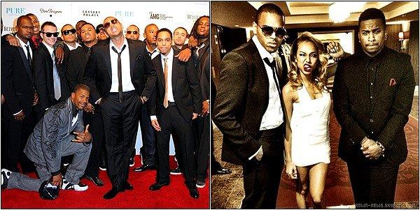 """Chris Brown était le 31/12/2011 au """"Pure Night Club"""" accompagné de Karrueche & de ces amis pour fêter le nouvel An."""