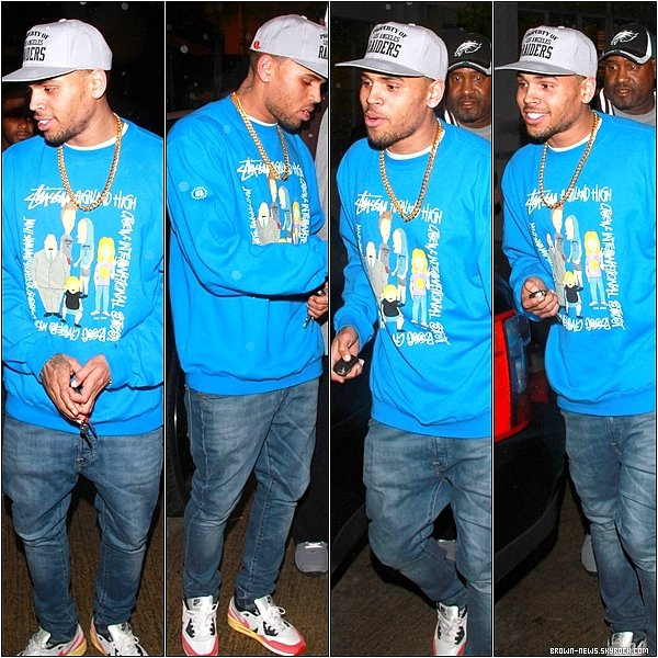 20 Janvier 2012 – Chris Brown sortant du Tru Nightclub