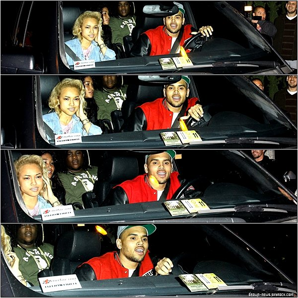 22 Janvier 2012 - Chris Brown sortant de Greystone Manor à West Hollywood en Californie.