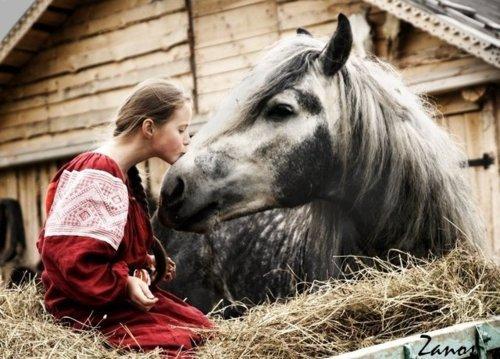 Fille et cheval ♥