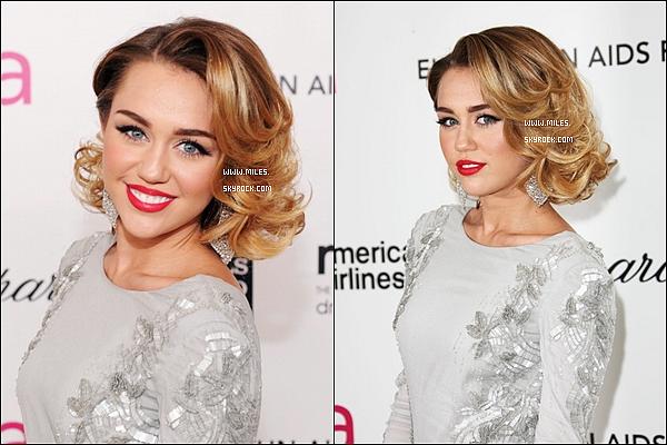 """. 25 Février 2012  ▬ _"""" Miley / Liam était présent à la cérémonie des Vanity Fair Oscar 2012 à Los Angeles. ."""