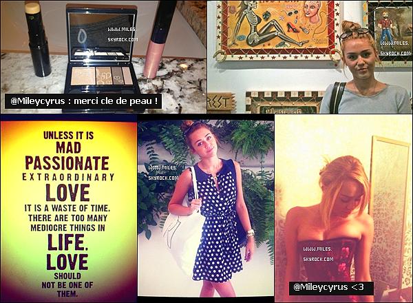* Photos personelles posté par Miley sur son Twitter et Instagram Tu Aime ?  *