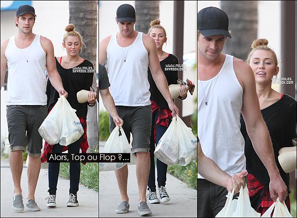2/07/2012 :  Miley Et Son Fiancé Liam Faisant du shopping chez Marshalls à LA   Alors Top Ou Flop Pour Miss Miles ? Top Pour Moi J'adore les Converses , N'oubliez pas De Voter Pour elle Sur Teen Choie awards !