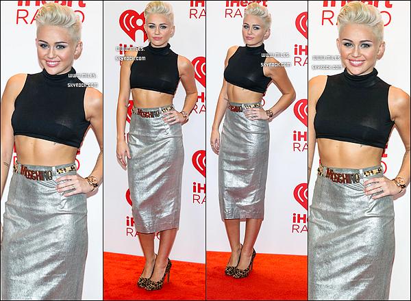 * 21/09/2012 :  Miss Miley Cyrus été Présente Sur iHeartRadio Music Festival 2012 à Las Vegas Top Ou Flop ?.  *