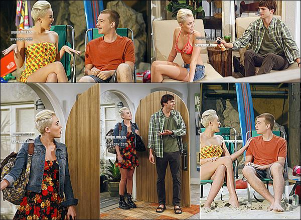 Découvrez Des Nouvelles Photos De Miley Sur La Série ''Two And a Half Men ''! Avec Ashton Kutcher , J'adore Miley Sur cette Série avec Ces Cheveux Alors Hate de Voir Le Nouvel Saison ?