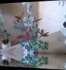 création de fleurs tel que Clématites en perles de rocailles
