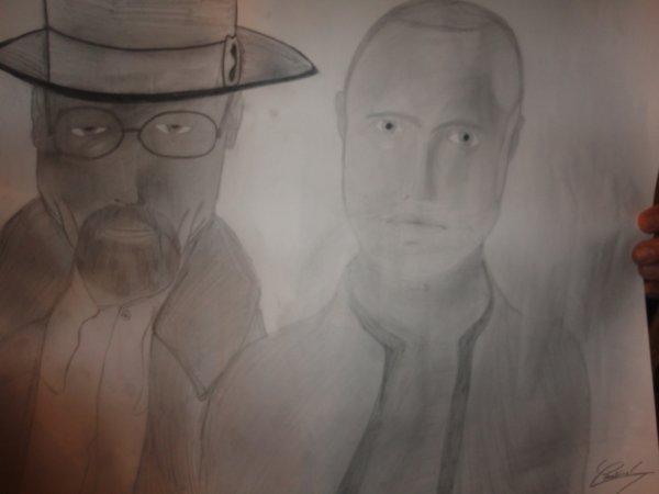 Aaron Paul and Heisenberg