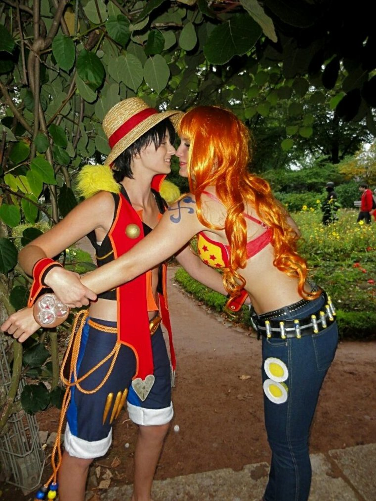 Cosplay Luffy X Nami