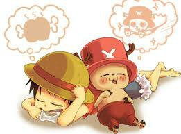 Chibi de chopper et luffy ♡♥