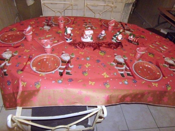 Notre table pour la veille de noël