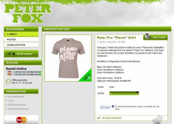 Bist du ein Grosser Fan von Peter Fox ?