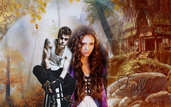 TVD Stefan & Katherine wall I fall for you.  Video of the moment: Steferine.